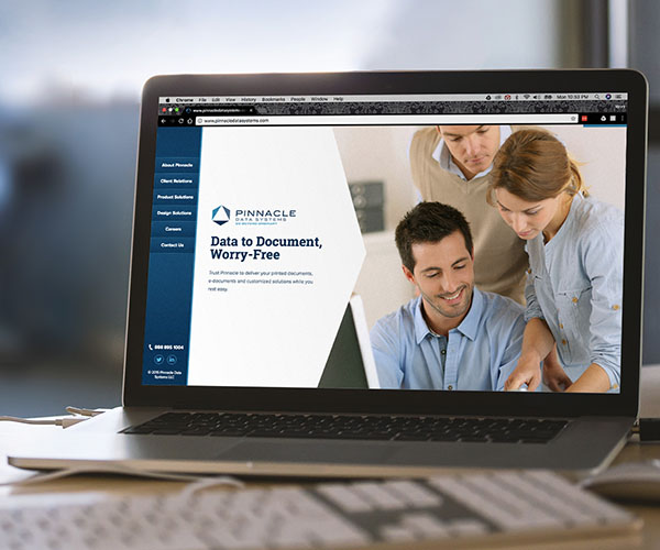 Front page of Pinnacle Data Systems website