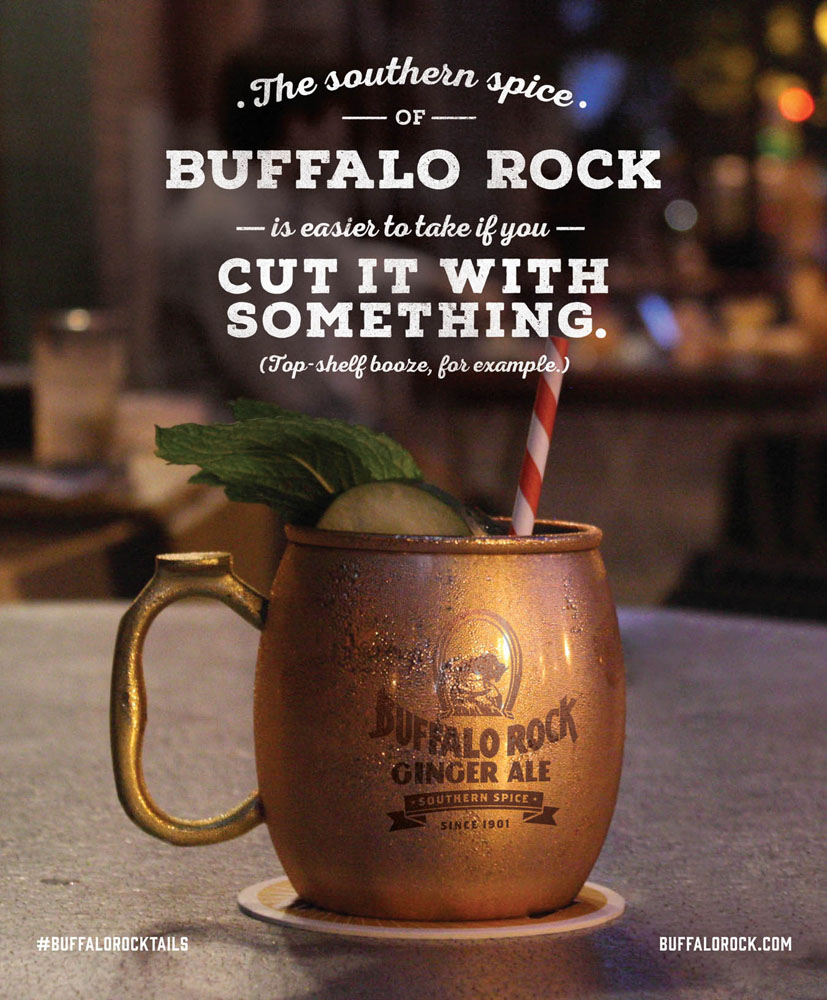 Buffalo Rock Ginger Ale ad in Good Grit magazine