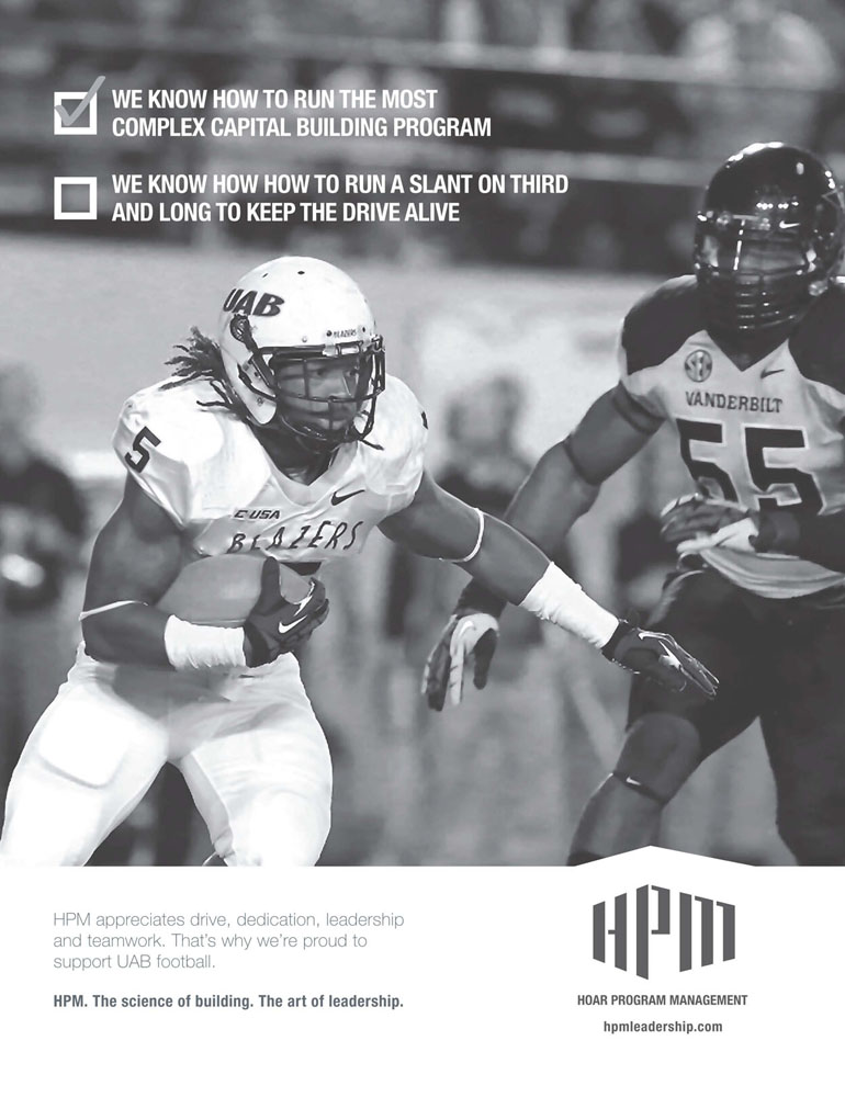 HPM ad in the UAB football program